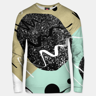 Miniatur Gold Mint Black White Abstract Glam #1 #trendy #decor #art  Unisex sweatshirt, Live Heroes