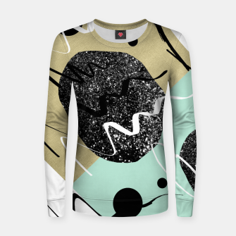 Miniatur Gold Mint Black White Abstract Glam #1 #trendy #decor #art  Frauen sweatshirt, Live Heroes