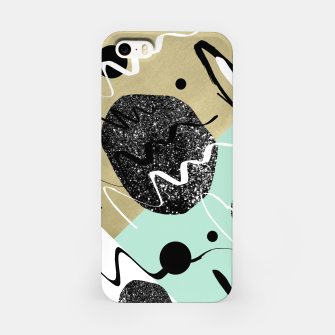 Miniatur Gold Mint Black White Abstract Glam #1 #trendy #decor #art  iPhone-Hülle, Live Heroes