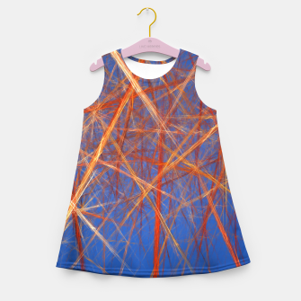 Thumbnail image of Abstract Grid Girl's summer dress, Live Heroes