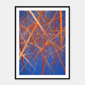 Thumbnail image of Abstract Grid Framed poster, Live Heroes