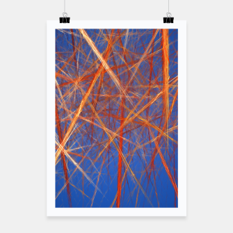 Thumbnail image of Abstract Grid Poster, Live Heroes