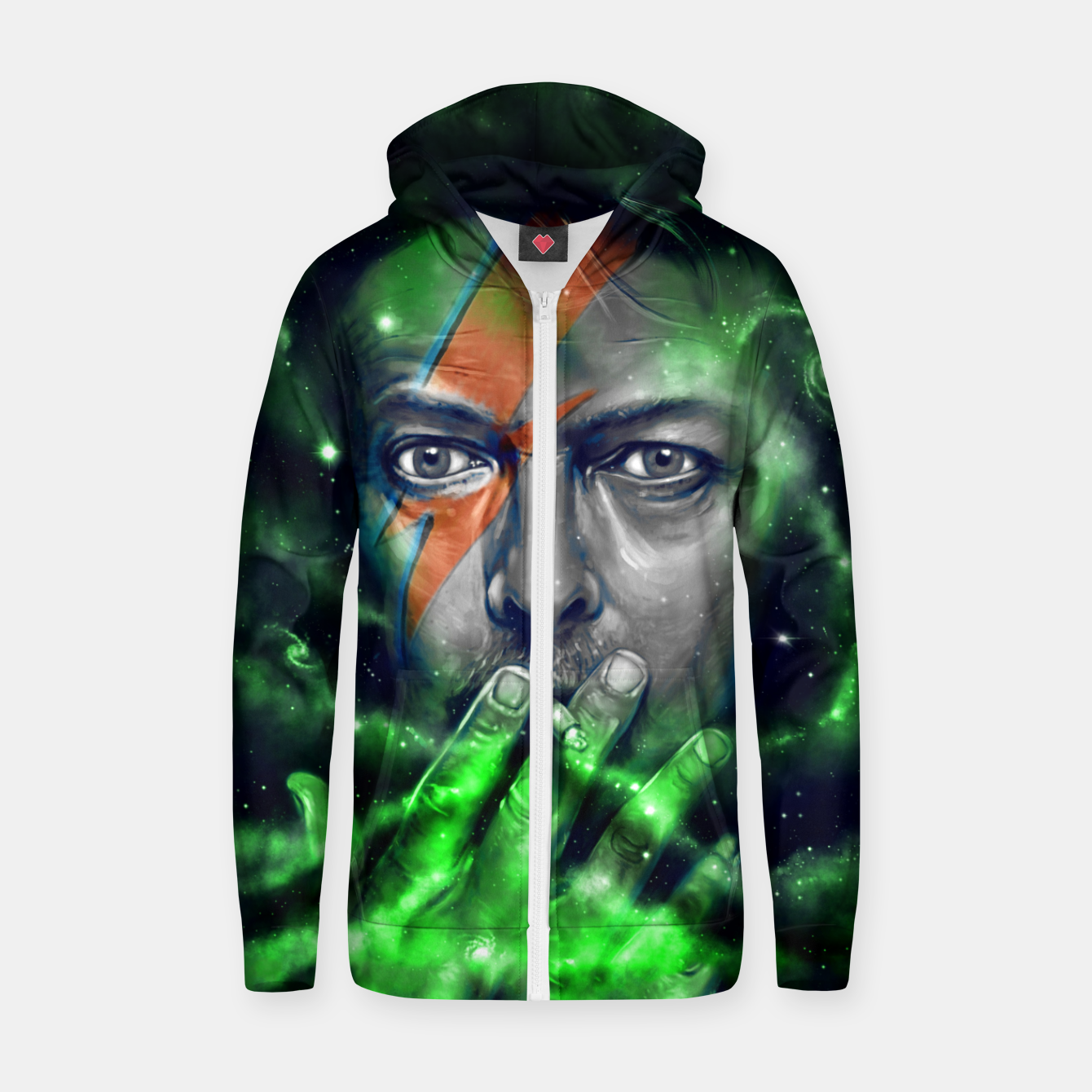 Image of David Zip up hoodie - Live Heroes