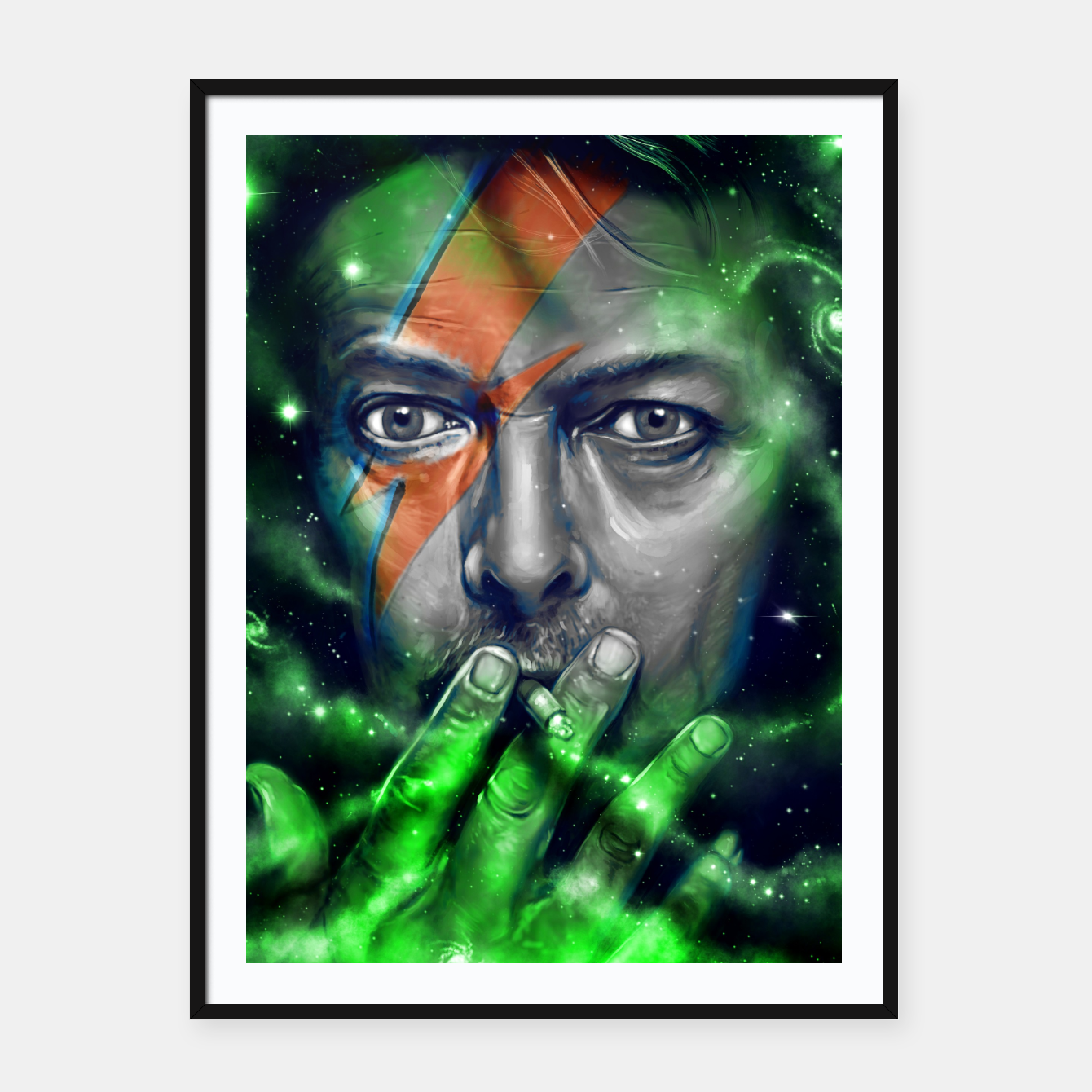 Image of David Framed poster - Live Heroes