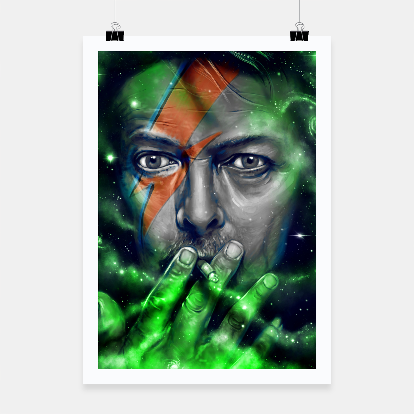Image of David Poster - Live Heroes