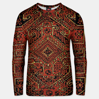 Thumbnail image of Anatolian carpet design Unisex sweater, Live Heroes