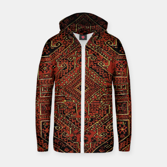 Miniaturka Anatolian carpet design Zip up hoodie, Live Heroes