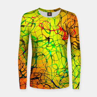 Thumbnail image of Chaos Paint Women sweater, Live Heroes