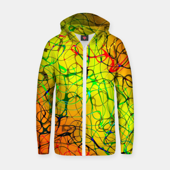 Thumbnail image of Chaos Paint Zip up hoodie, Live Heroes