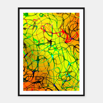 Thumbnail image of Chaos Paint Framed poster, Live Heroes