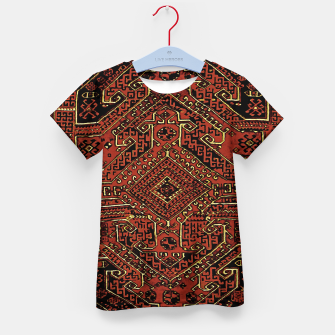 Thumbnail image of Anatolian carpet design Kid's t-shirt, Live Heroes