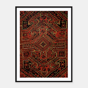 Thumbnail image of Anatolian carpet design Framed poster, Live Heroes