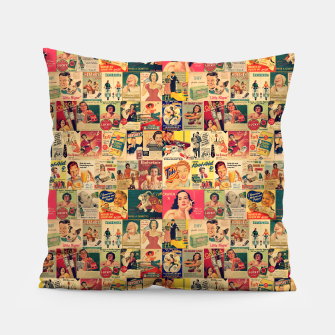 Thumbnail image of Retro Ads Pillow, Live Heroes