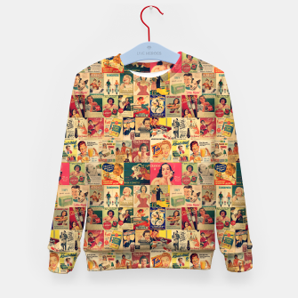 Thumbnail image of Retro Ads Kid's sweater, Live Heroes