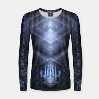 Miniatur Crystalline matrix Women sweater, Live Heroes