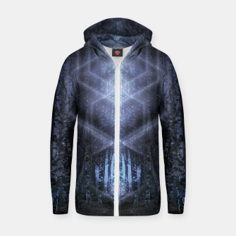 Miniatur Crystalline matrix Zip up hoodie, Live Heroes