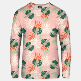 Elephants in the pink jungle Sudadera unisex miniature