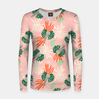 Elephants in the pink jungle Sudadera para mujeres miniature