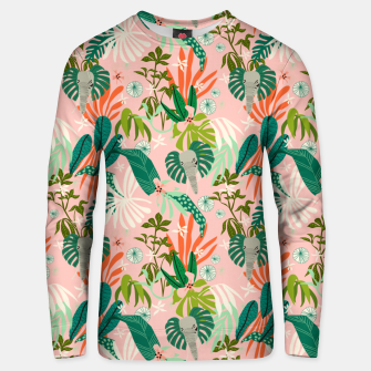 Elephants in the pink jungle 2 Sudadera unisex miniature