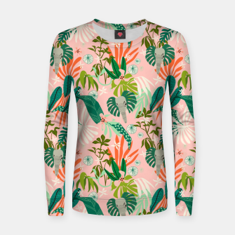 Elephants in the pink jungle 2 Sudadera para mujeres thumbnail image