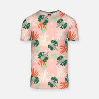 Elephants in the pink jungle Camiseta miniature