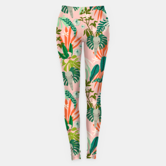 Elephants in the pink jungle 2 Leggings miniature