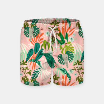 Elephants in the pink jungle 2 Pantalones de baño miniature