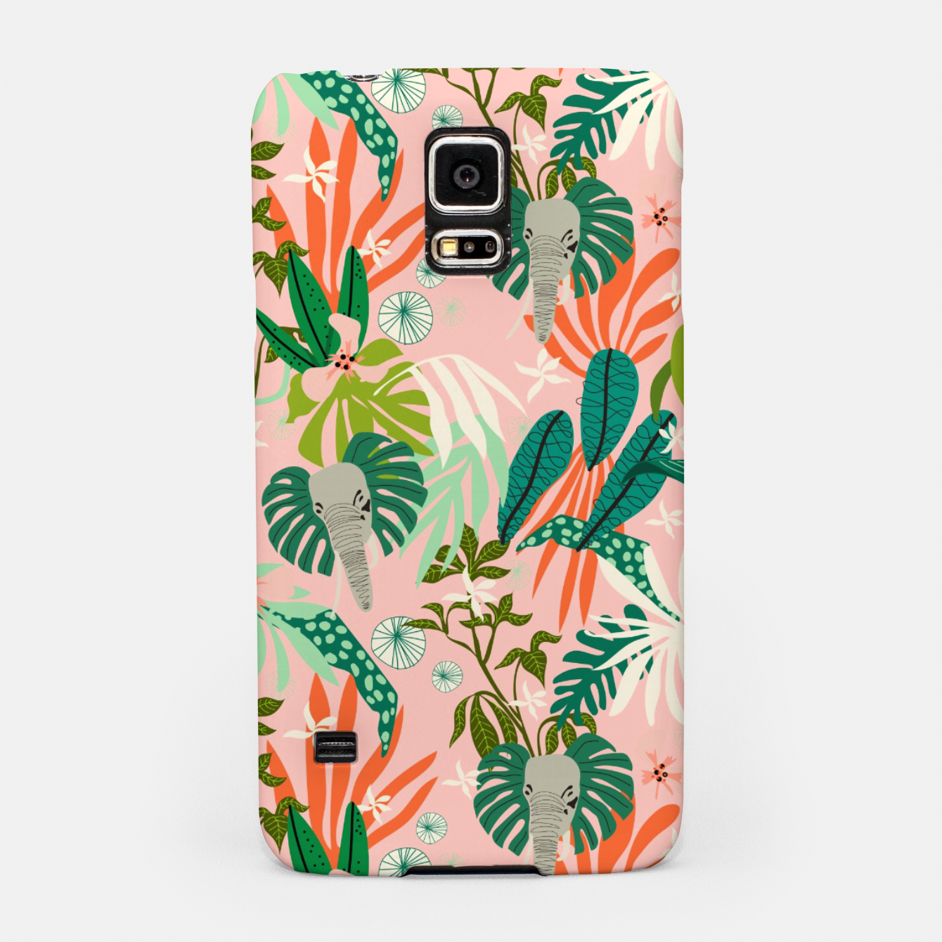 Image of Elephants in the pink jungle 2 Carcasa por Samsung - Live Heroes