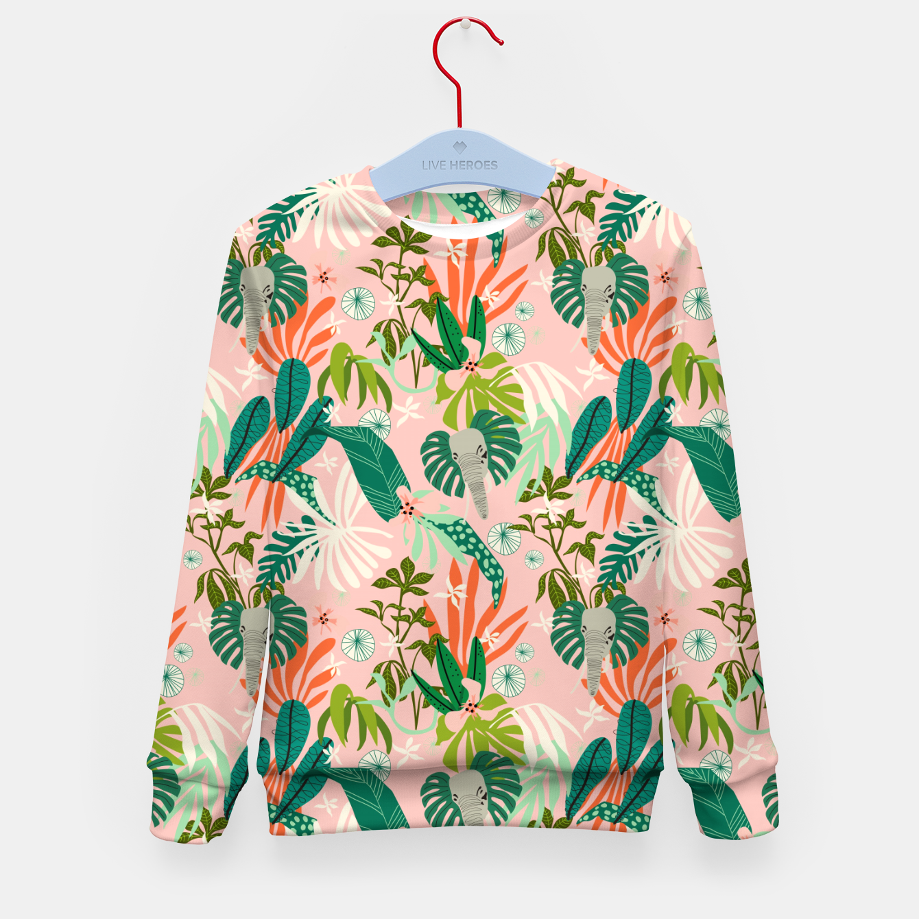 Image de Elephants in the pink jungle 2 Sudadera para niños - Live Heroes