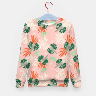 Miniature de image de Elephants in the pink jungle Sudadera para niños, Live Heroes