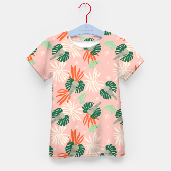 Miniature de image de Elephants in the pink jungle Camiseta para niños, Live Heroes