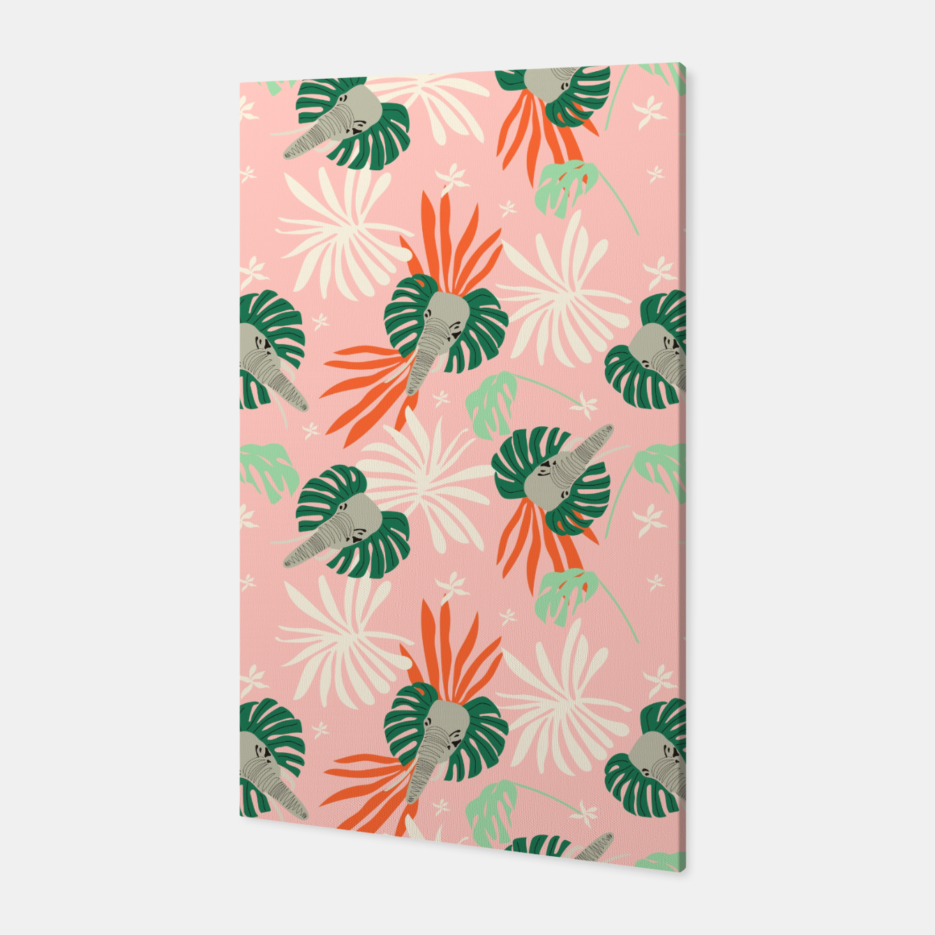 Image de Elephants in the pink jungle Canvas - Live Heroes