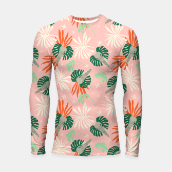 Thumbnail image of Elephants in the pink jungle Longsleeve rashguard, Live Heroes