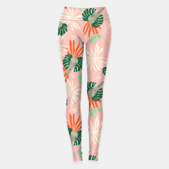 Elephants in the pink jungle Leggings miniature
