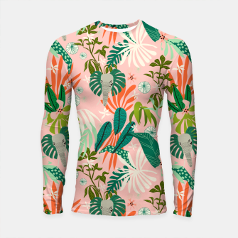 Thumbnail image of Elephants in the pink jungle 2 Longsleeve rashguard, Live Heroes