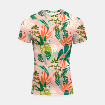 Elephants in the pink jungle 2 Shortsleeve rashguard thumbnail image