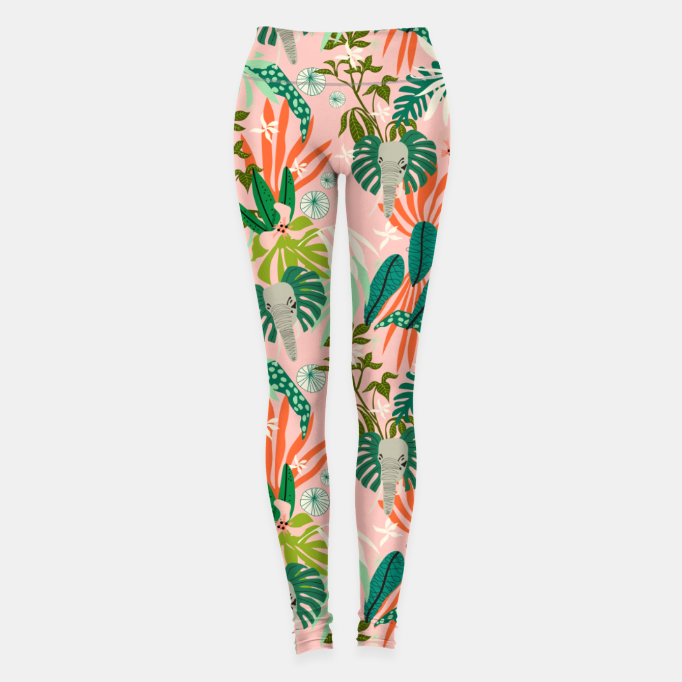 Image de Elephants in the pink jungle 2 Leggings - Live Heroes