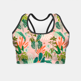 Elephants in the pink jungle 2 Crop Top thumbnail image