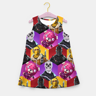 Miniatur FRTNT Girl's summer dress, Live Heroes
