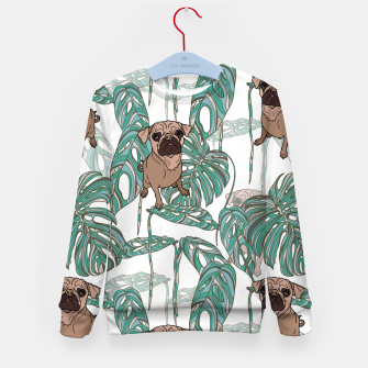 Thumbnail image of Tropical Pugs Kid's sweater, Live Heroes