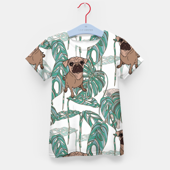 Thumbnail image of Tropical Pugs Kid's t-shirt, Live Heroes