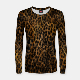 Thumbnail image of Cheetah Fur Texture Women sweater, Live Heroes