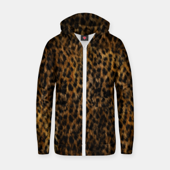 Thumbnail image of Cheetah Fur Texture Zip up hoodie, Live Heroes
