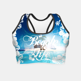 Thumbnail image of Beach Life Crop Top, Live Heroes