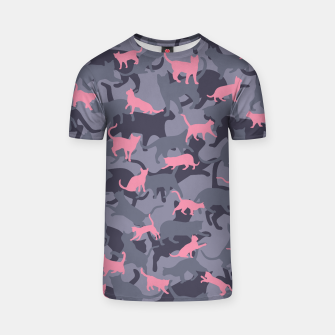 Thumbnail image of Cat Camo PINK T-shirt, Live Heroes