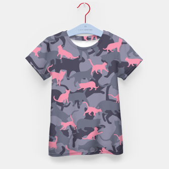 Thumbnail image of Cat Camo PINK Kid's t-shirt, Live Heroes