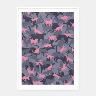 Thumbnail image of Cat Camo PINK Framed poster, Live Heroes