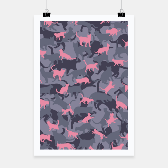 Thumbnail image of Cat Camo PINK Poster, Live Heroes