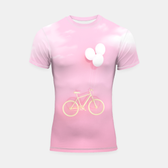 Thumbnail image of Flying Bike Shortsleeve rashguard, Live Heroes