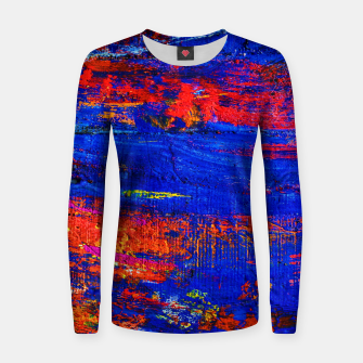 Colored Abstract Painting Artwork Women sweater thumbnail image